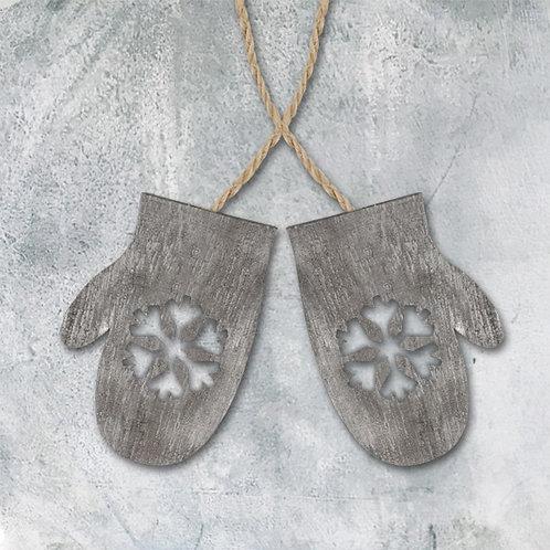 Wooden handing mittens