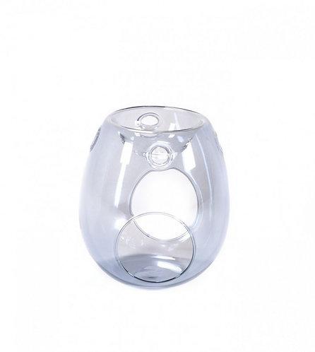 Glass Wax Melt Burner - Pearl Bluish Grey