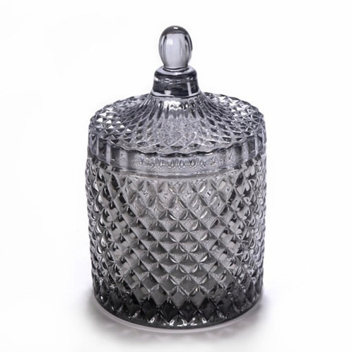 Large Diamond Cut Geo Jar