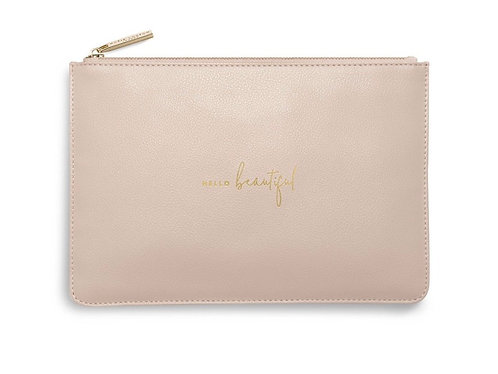 KATIE LOXTON| PERFECT POUCH | HELLO BEAUTIFUL | DUSTY PINK