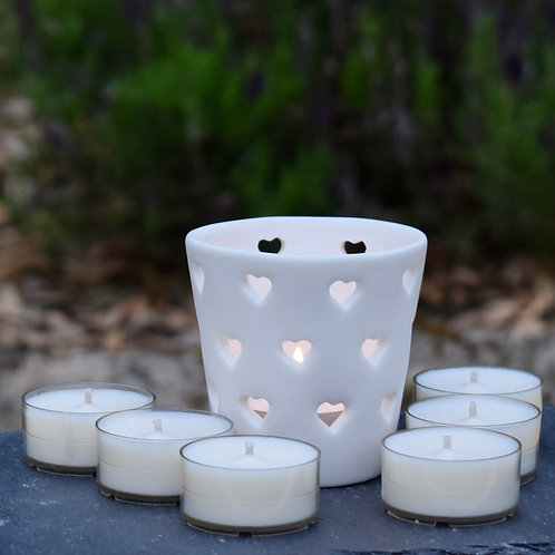 Scented Tealight Heart Gift Set