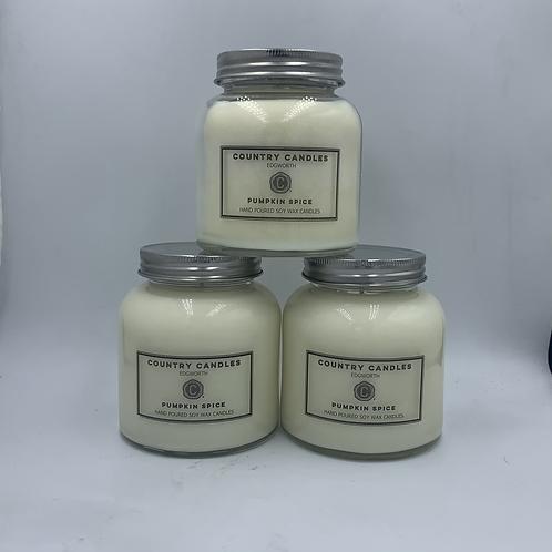 Pumpkin Spice medium vogue candle jar
