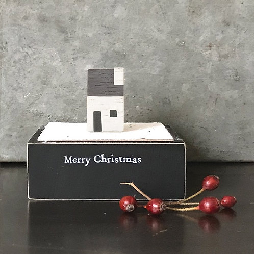 Wooden square block Christmas House