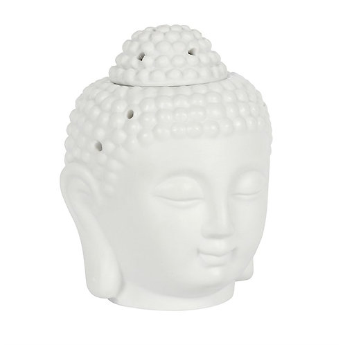 Buddha Head Ceramic Wax Melt Burner - White