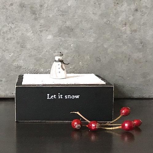 Let it snow wooden block