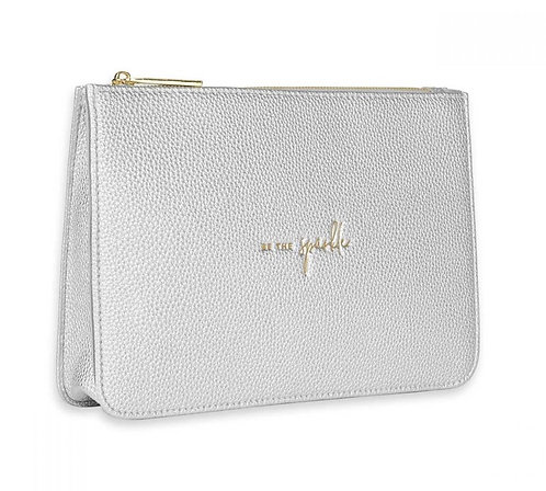 KATIE LOXTON| STYLISH STRUCTURED POUCH | BE THE SPARKLE | SILVER