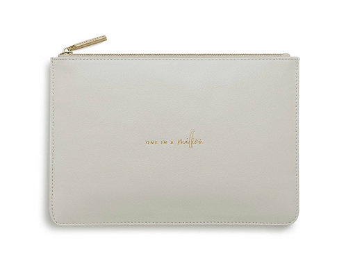 KATIE LOXTON| PERFECT POUCH | ONE IN A MILLION | PALE GREY