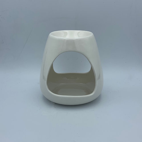 Gloss White Chelsea Ceramic Wax Burner with 20 wax melts