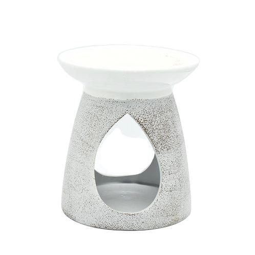 Two Tone Ceramic Wax Melt Burner - Grey & White