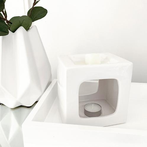 Talin Ceramic Wax Melt Burner - White