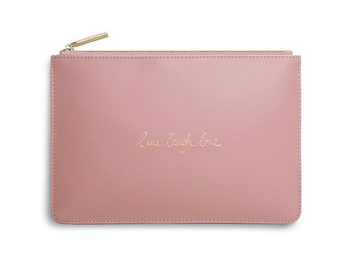 KATIE LOXTON| PERFECT POUCH | LIVE LAUGH LOVE | PINK