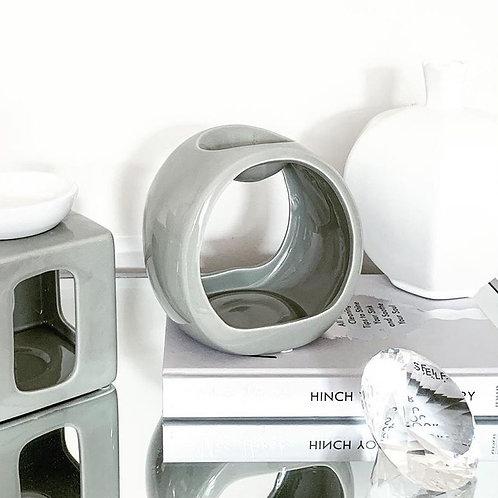 Porto Ceramic Wax Burner - Grey
