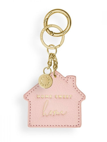 KATIE LOXTON  CHAIN KEYRING   HOME SWEET HOME   PINK