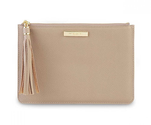 KATIE LOXTON| TASSEL POUCH | TAUPE