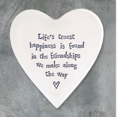 Porcelain coaster-Life's truest happiness