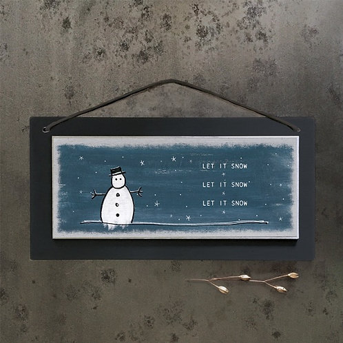 Christmas sign-Let it snow