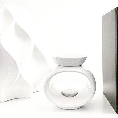 Rome Ceramic Wax Burner - White