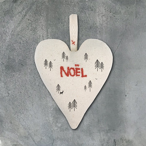 Fabric heart Noel