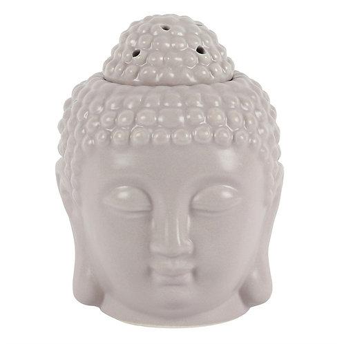 Buddha Head Ceramic Wax Melt Burner - Grey