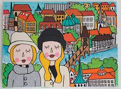 Madre e hija en Praga