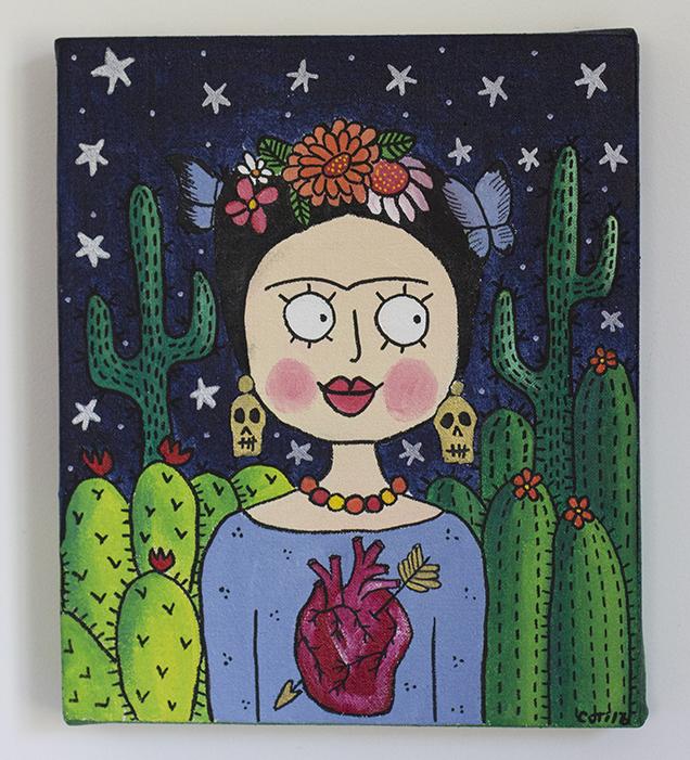 Frida y cactus