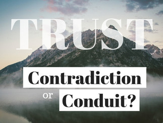 TRUST: Contradiction or Conduit? The Story of Lazarus