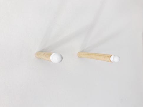 Puxador sobre clave de madeira  20 x 2,2cm 2017