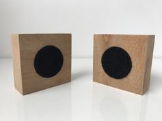 Velcro sobre madeira 7x7x3cm 2018