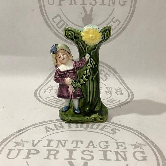 Girl and Tree Trunk Bud - Flower Vase