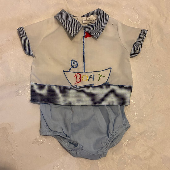 3 mon 2 pc Outfit Sail Boat