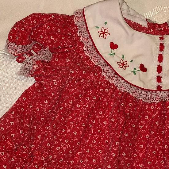Red heart dress 12 months