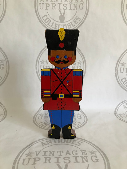Vintage Wood Soldier Man Wall Hanging
