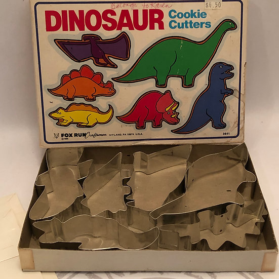 Vintage Dinosaurs Cookie Cutters Set of 6 in Box