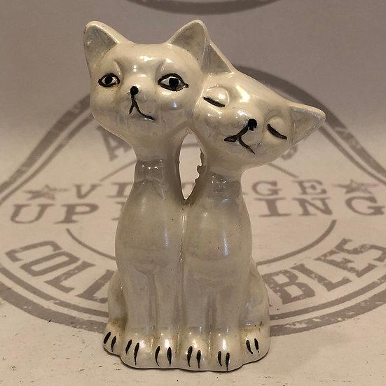 Twin Kitty Cats Figurine