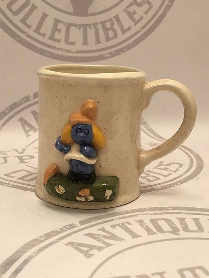 Vintage 3D Smurfette Mug / Smurfette coffee cup