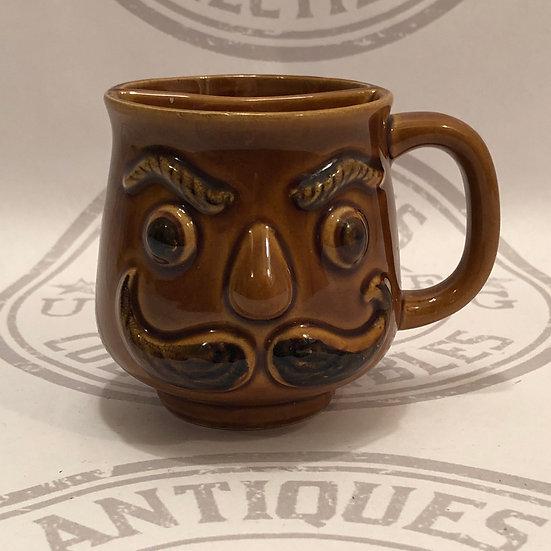Shaving Mug / Cup / Mustache Mug with Face Vintage Bathroom Decor