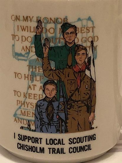Boy Scout Mug, Boy Scout Oath Mug, Chisholm Trail Council