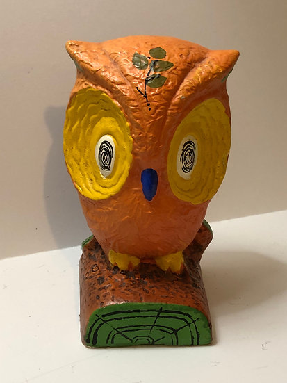 Kitschy Colorful Wise Owl Knick Knack