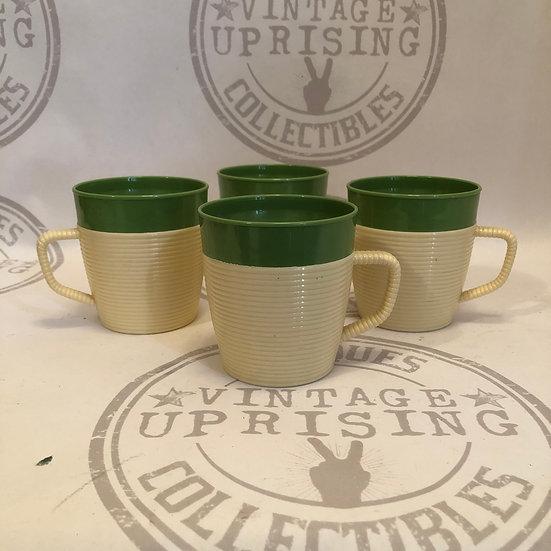 Vintage Raffiaware Coffee Mugs by thermo temp