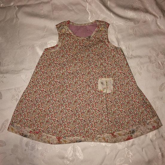 pink reversible dress, handmade.