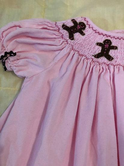 Pink corduroy gingerbread dress