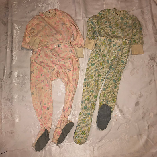 Two Pair of Girls Footie PJ's by Carter's