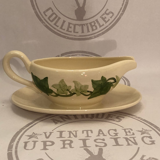 Gravy Boat with Attached Underplate Ivy (American) by FRANCISCAN