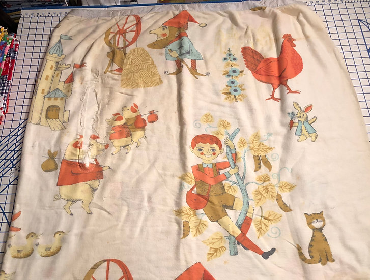 Vintage Children Nursery Rhymes Blanket