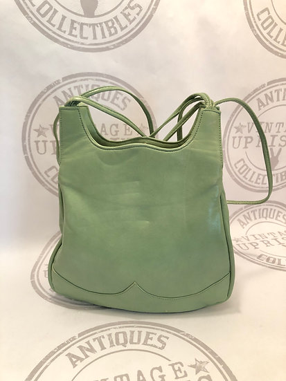 Vintage Mint Green 60s Purse / Handbag / Retro Green Shoulder Bag / Pocketbook