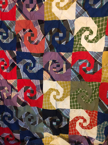 Vintage Hand Stitched Quilt Top, Unfinished