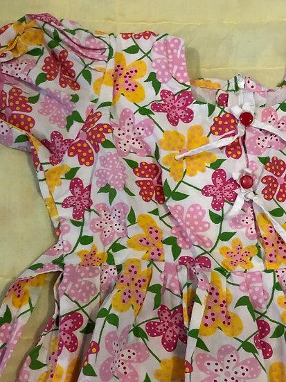 White and Pink Yellow Flowers - Handmade