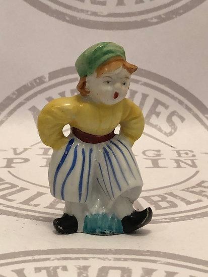 Japan Dutch Boy Figurine / Traditional Japan Dutch Boy / Hand Painted / 1940's