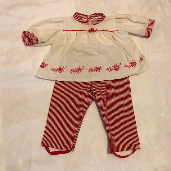Carter's Red & White Long Sleeve Outfit