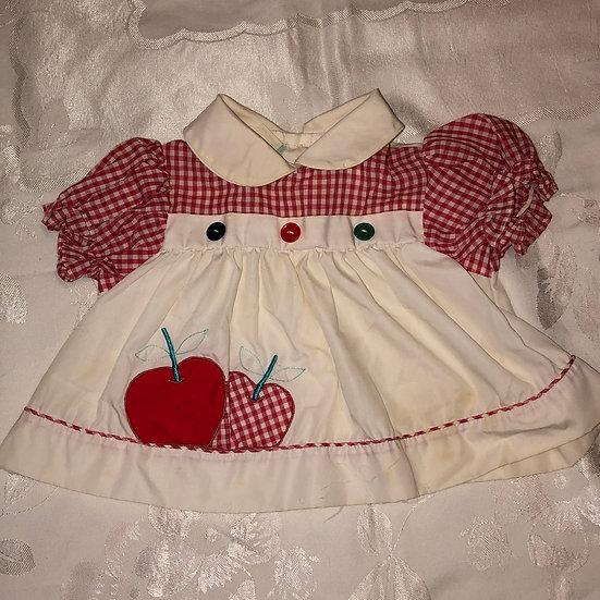 Red & White Apple Dress